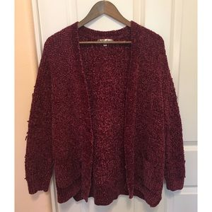Seven7 frayed sweater